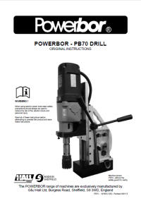 Powerbor 700 Owners Manual
