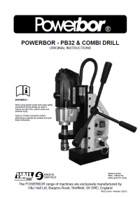 Powerbor 32 and Combi Owners Manual