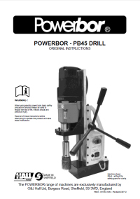 Powerbor 45 Owners Manual