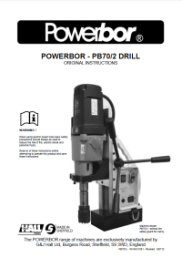 Powerbor 70/2 Owners Manual